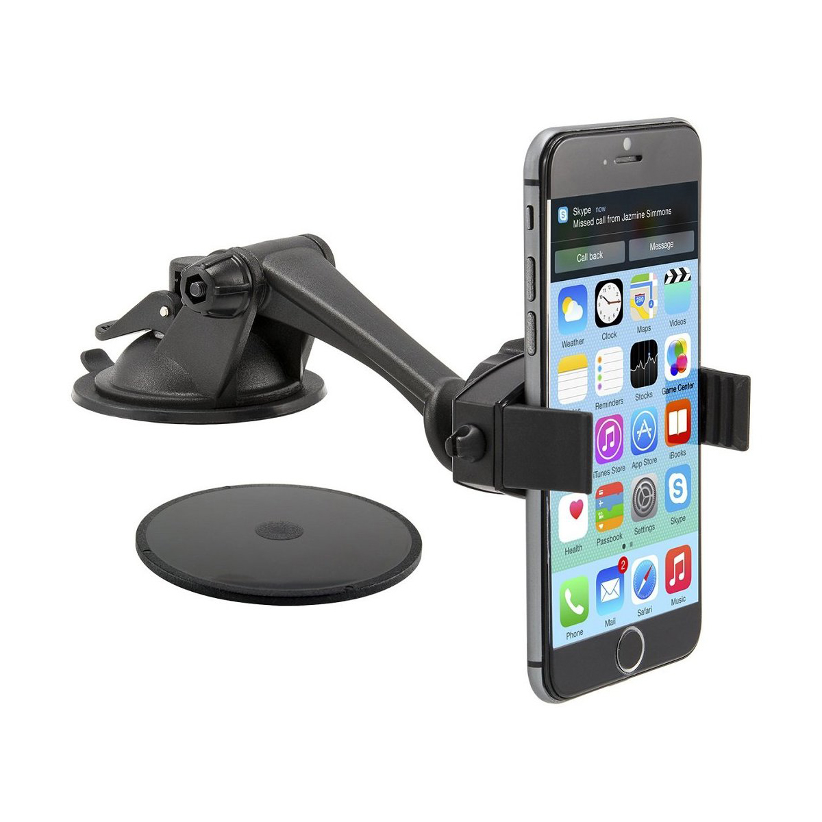 Arkon® Mobile Grip Mark II Flat Surface Sticky Suction Mounting Pedestal [MG002 + GN079 + AP013 + SP-SB-RING]