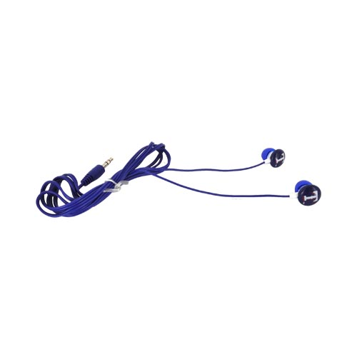 Original iHip MLB Licensed Texas Rangers Noise Isolating Earbuds (3.5mm), MLF10169TX - Red/ White/ Blue