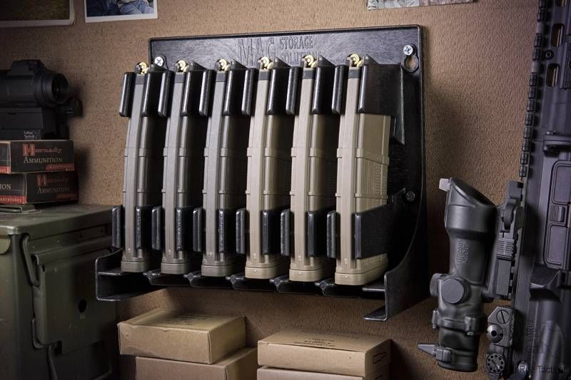 Mag Storage Solutions Ar 15 Magazine Holder Rack Compatible W