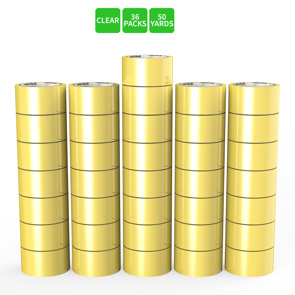 Moving / Storage Tape, 36 Rolls of Commercial Grade [M Tape- CLEAR] Value Bundle for Heavy Duty Packaging [1.9 Inches x 50 Yards]