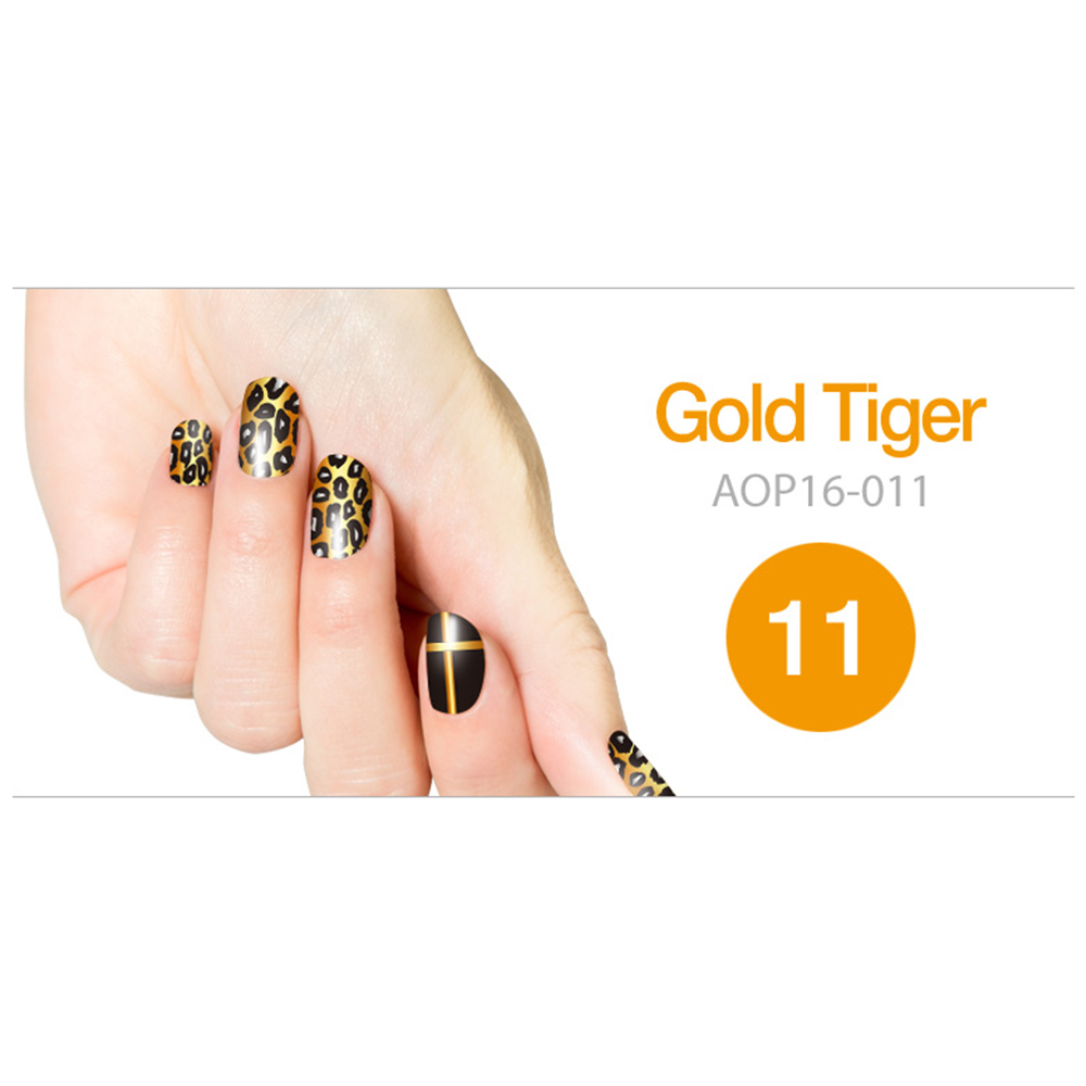 Art Ongle Nail Polish Strips, Nail Color [Gold Tiger]
