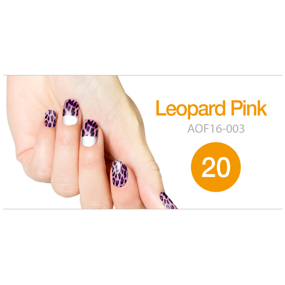 Art Ongle Nail Polish Strips, Nail Color [Leopard Pink]