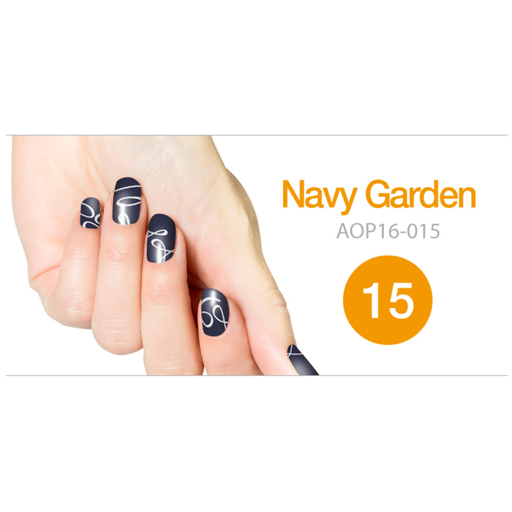 Art Ongle Nail Polish Strips, Nail Color [Navy Garden]