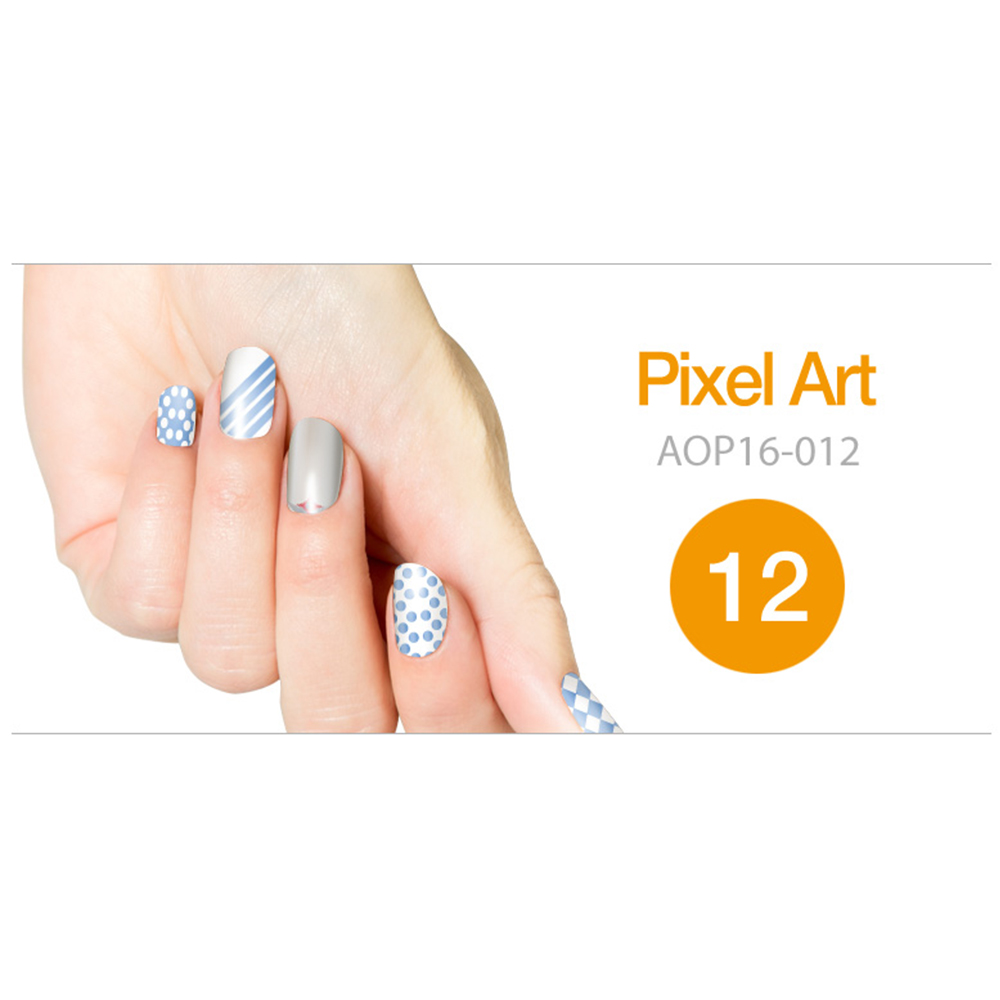 Art Ongle Nail Polish Strips, Nail Color [Pixel Art]
