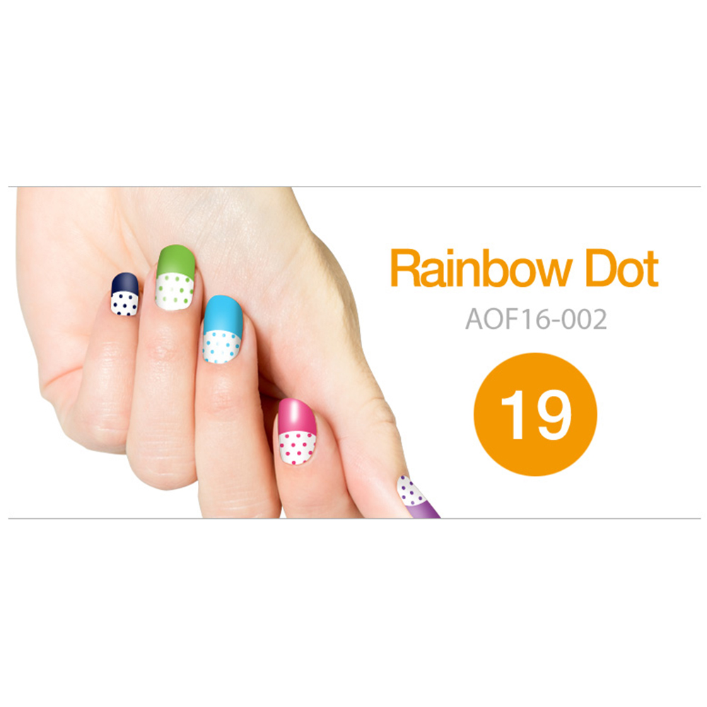 Art Ongle Nail Polish Strips, Nail Color [Rainbow Dot]