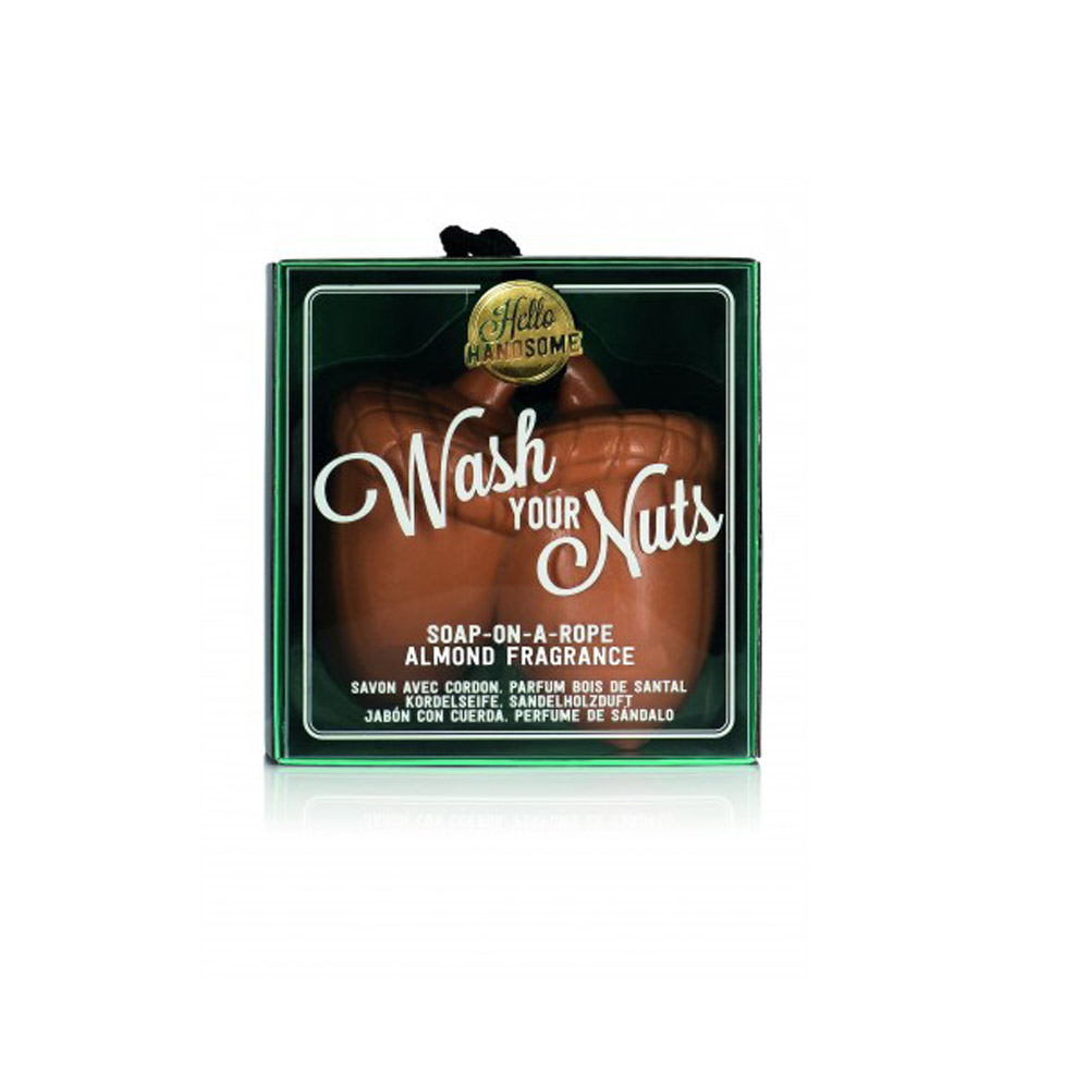 Hello Handsome Wash Your Nuts Acorn Soap-on-a-Rope - Nutty Almond Fragrance