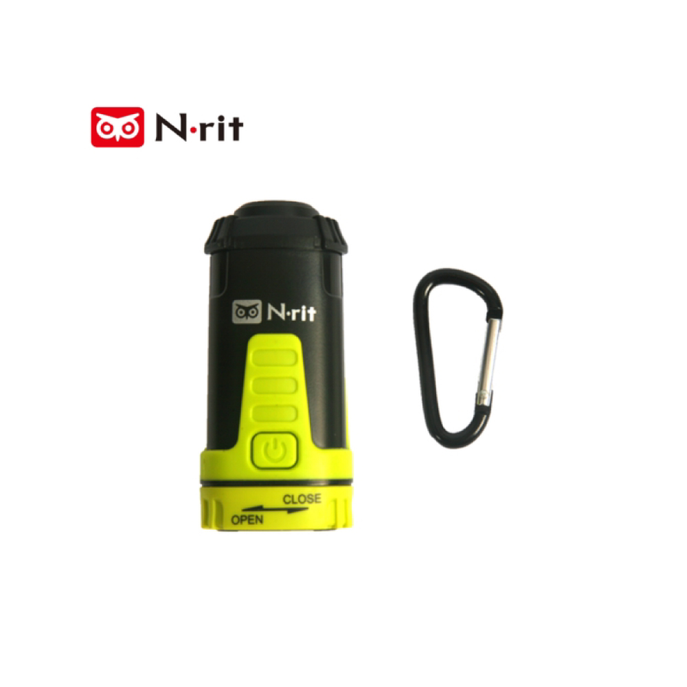 [N-Rit] Owl Eyes [Medium] 3-in-1 Multifunctional Extendable [115 Lumens] Lantern Flashlight - 3 AAA Batteries & D-Ring Included!