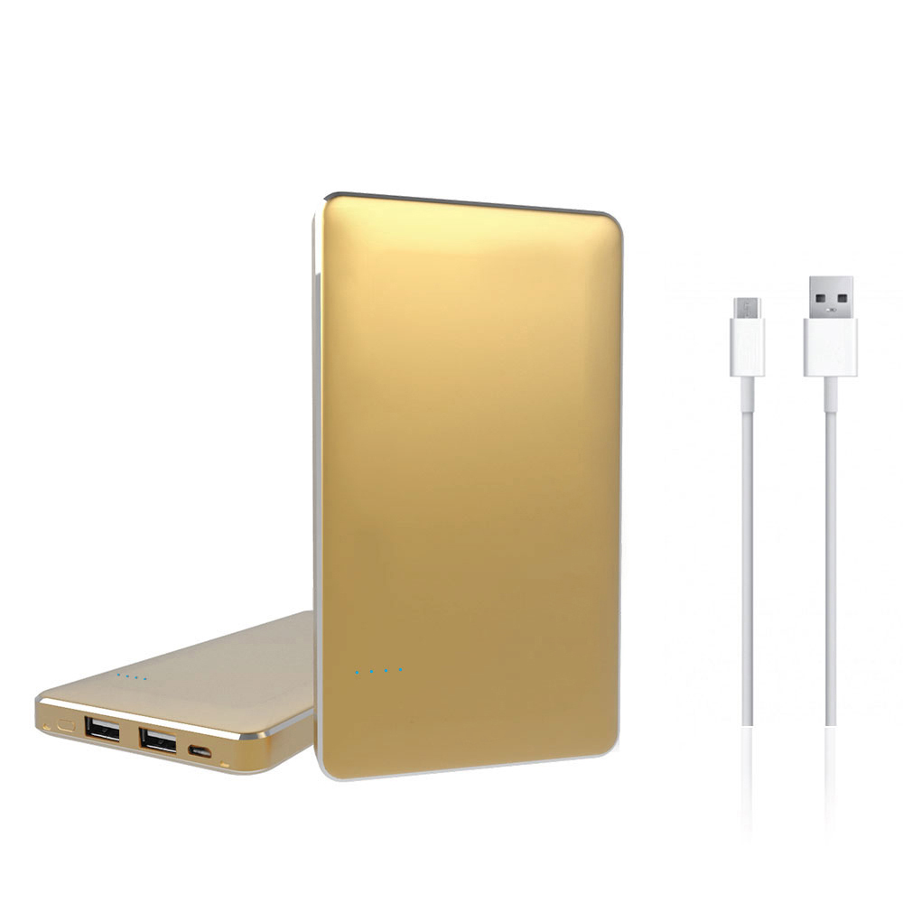 Powerbank / Portable External Battery by Redshield [Gold] 8000mAh Featuring Dual Port USB for Smartphones & Tablets