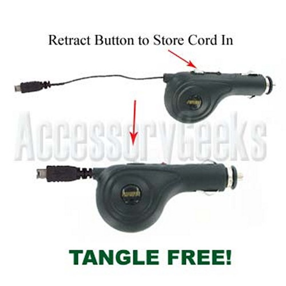 Retractable Car Charger (mini USB)