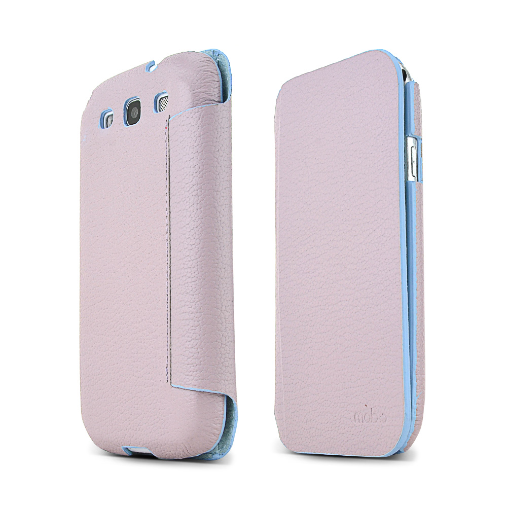 MobC Lavender Samsung Galaxy S3 C.Pocket Hard Cover Diary Case w/ Suede Interior & ID Slots