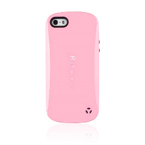 Apple iPhone SE / 5 / 5S  Case, REDshield [Baby Pink/ Black]  Hard Case Cover on Skinny Shockproof Silicone Hybrid Case; Perfect fit as Best Coolest Design cases