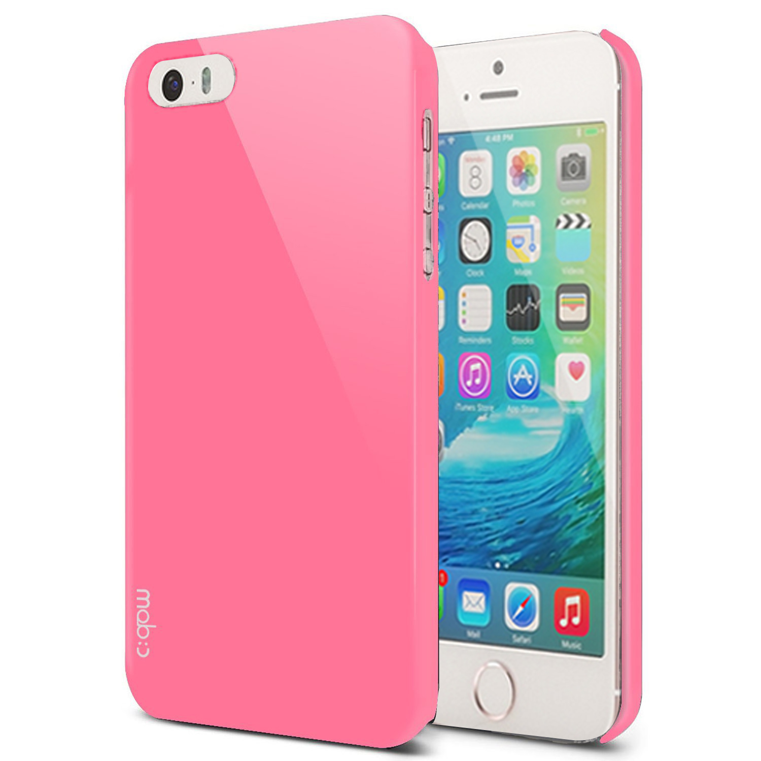 Made for Apple iPhone SE/5/5S Case, MobC [Baby Pink]  Hard Case Cover; Perfect fit as Best Coolest Design Plastic Case w/ Free Screen Protector! by Redshield