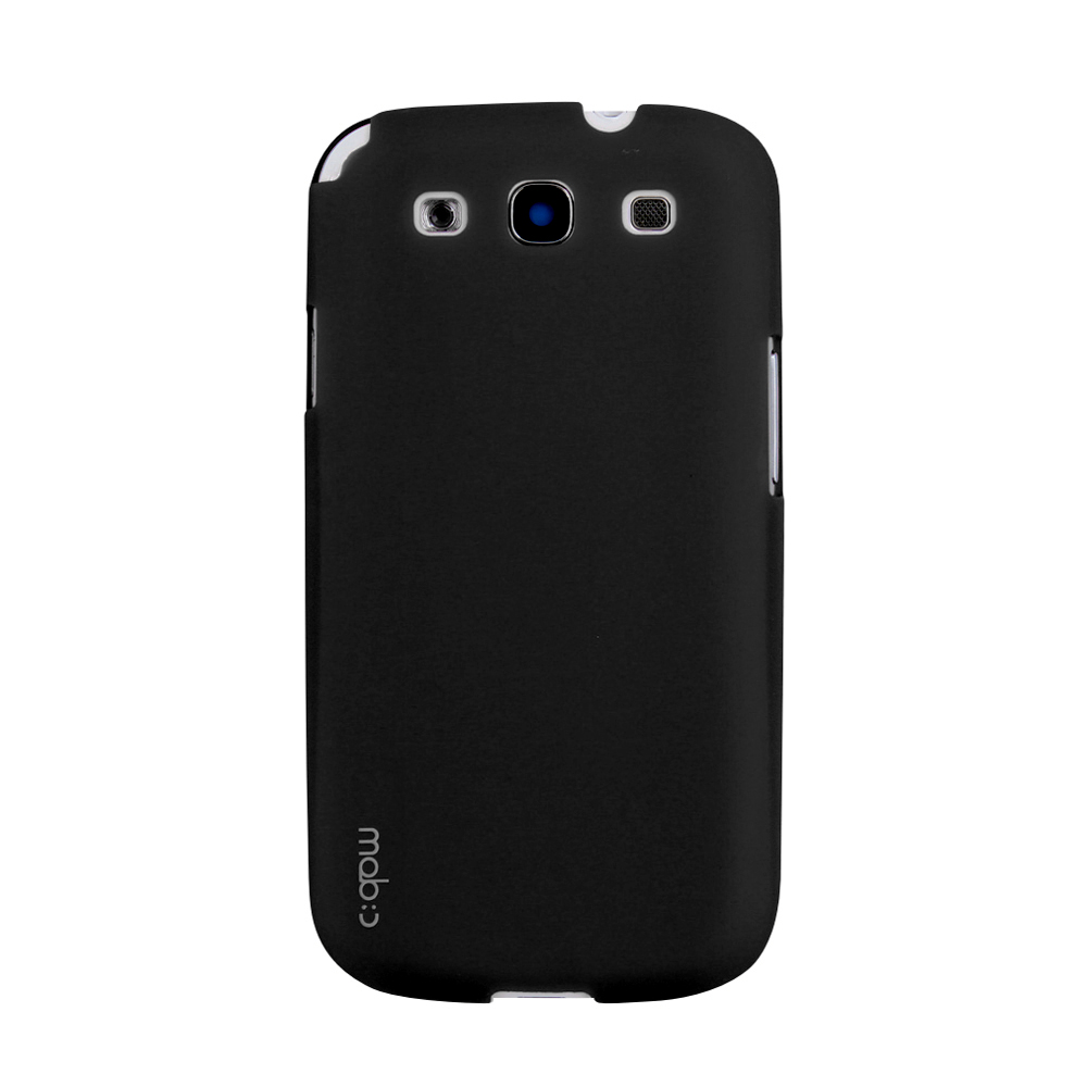 MobC Black Samsung Galaxy S3 Hard Case Cover; Perfect fit as Best Coolest Design Plastic Case