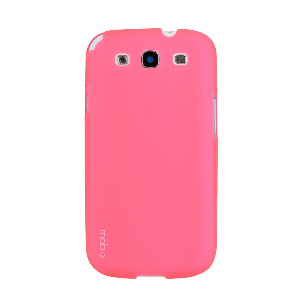 MobC Baby Pink Samsung Galaxy S3 Matte Hard Case Cover; Perfect fit as Best Coolest Design Plastic Case