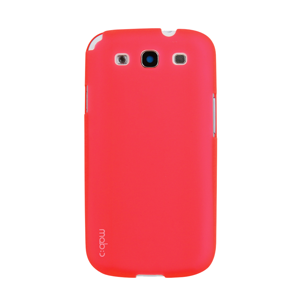 MobC Red Samsung Galaxy S3 Hard Case Cover; Perfect fit as Best Coolest Design Plastic Case