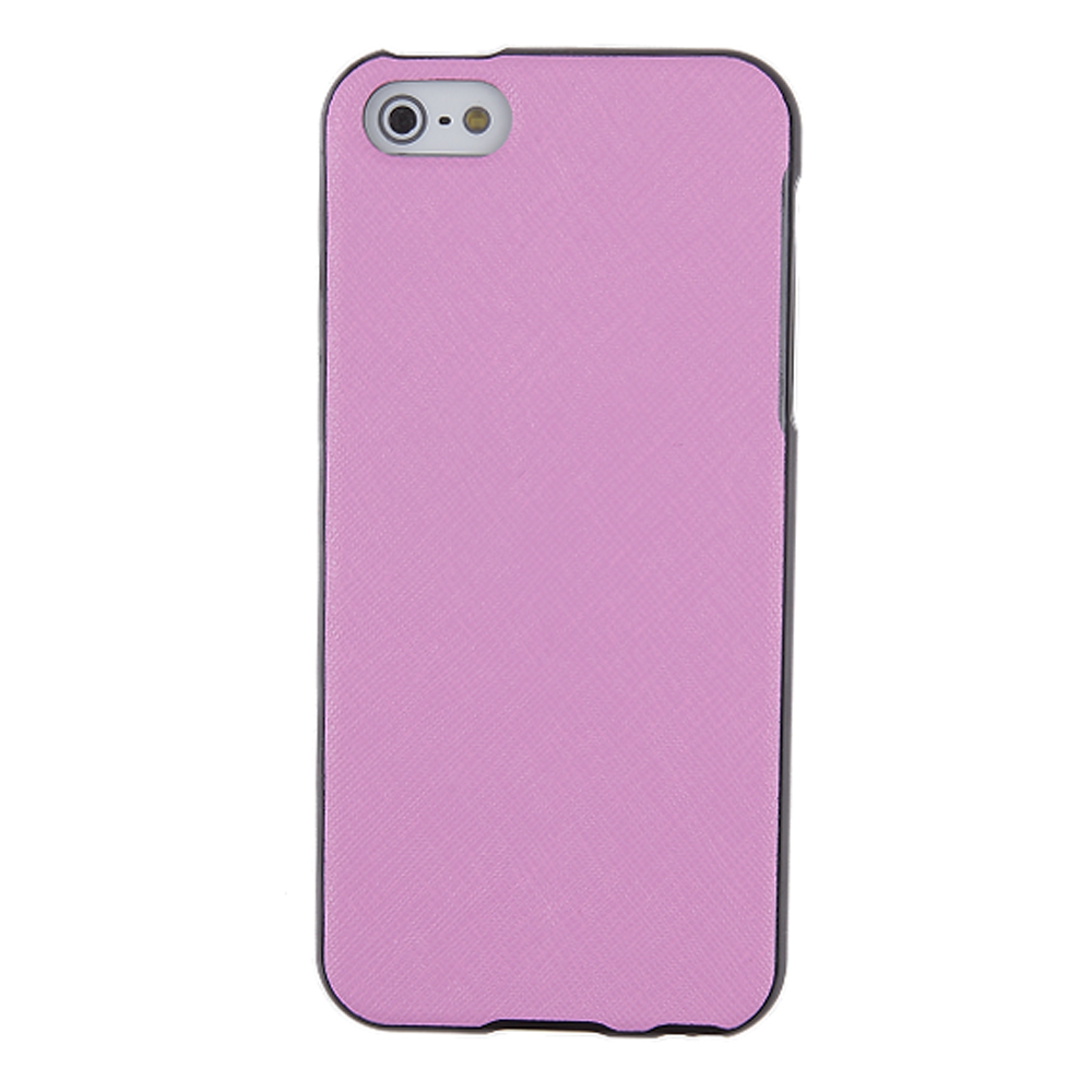 Made for Apple iPhone SE / 5 / 5S  Case, [Baby Pink]  Anti-Slip Soft Silicone TPU Gel Material w/ Coolest Fashion Faux Leather Textured Back by Redshield
