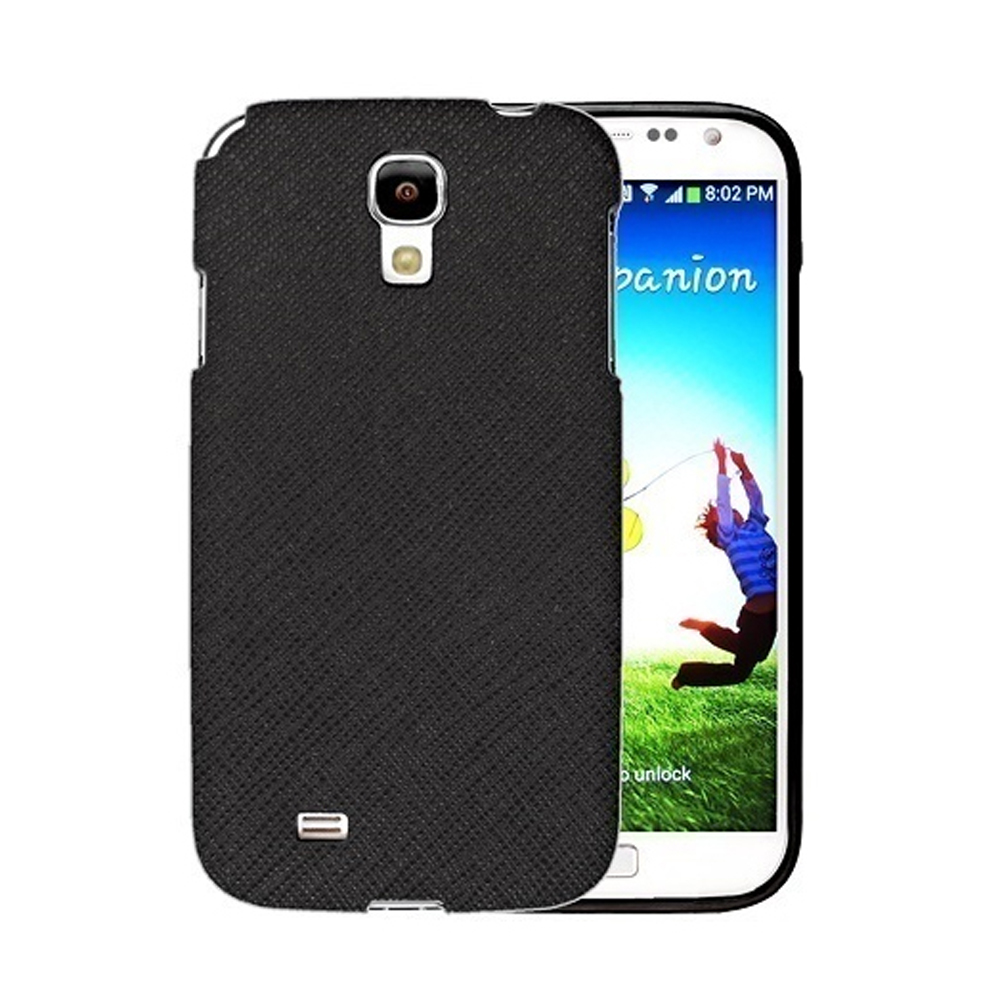 [REDShield] Black Samsung Galaxy S4 Case Cover; [Anti-Slip] Soft Silicone TPU Gel Material w/Coolest Fashion  faux leather Textured Back