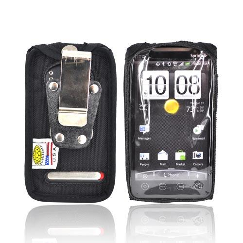 Original TurtleBack Premium HTC EVO 4G Heavy Duty Nylon Case w/ Steel Belt Clip - Black
