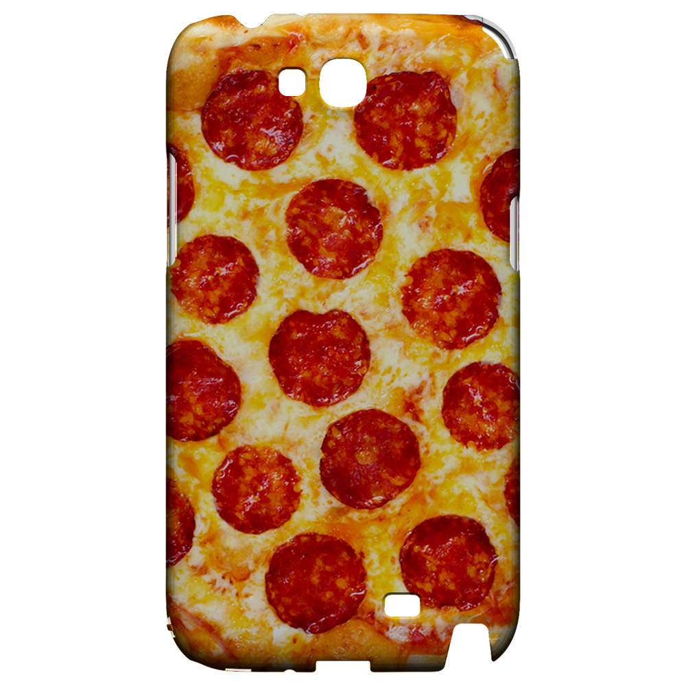 [Pizza] Custom Printed Heat Sublimation Design Hard Plastic Case Cover for Samsung Galaxy Note 2 w/ Free Screen Protector!