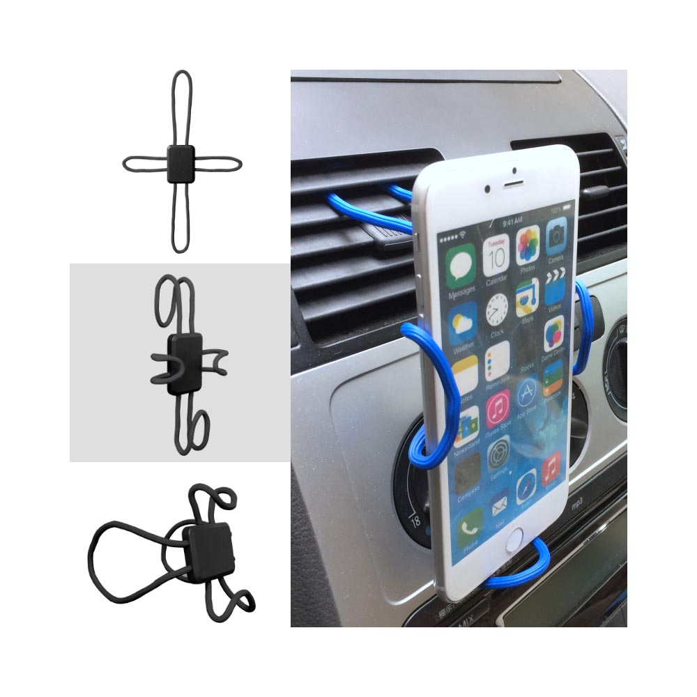 Phone Mount, Universal Cross-Shaped Flexible DIY Mobile Phone Holder Mount [Black]