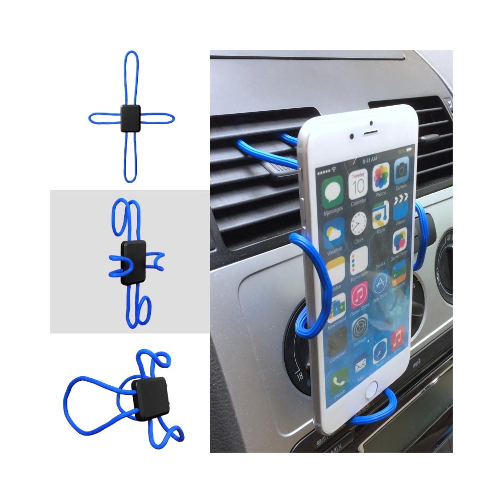 Phone Mount, Universal Cross-Shaped Flexible DIY Mobile Phone Holder Mount [Blue]