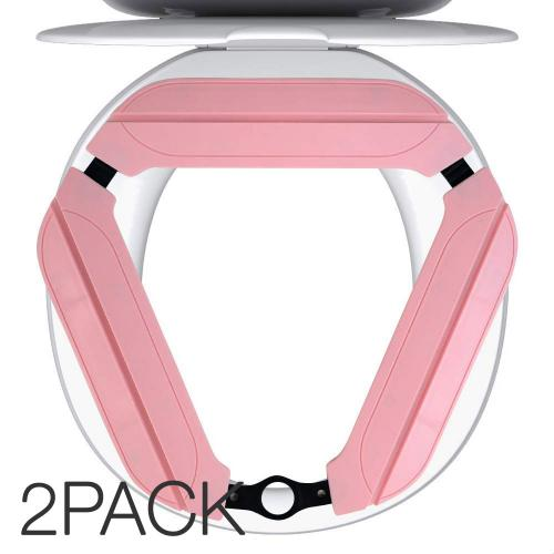 One Umbrella Portable Potty for Kids and Adults, Foldable Toilet Seat Cover Liner, Reusable with Non-Slip Pads and Carrying Bag [Pink] [2PK]