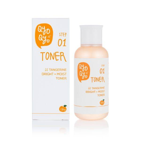 [Qyo Qyo] Face Toner, Tangerine Bright + Moist Toner for Clearer & Livelier Skin - Made w/ Tangerine Peel from Jeju