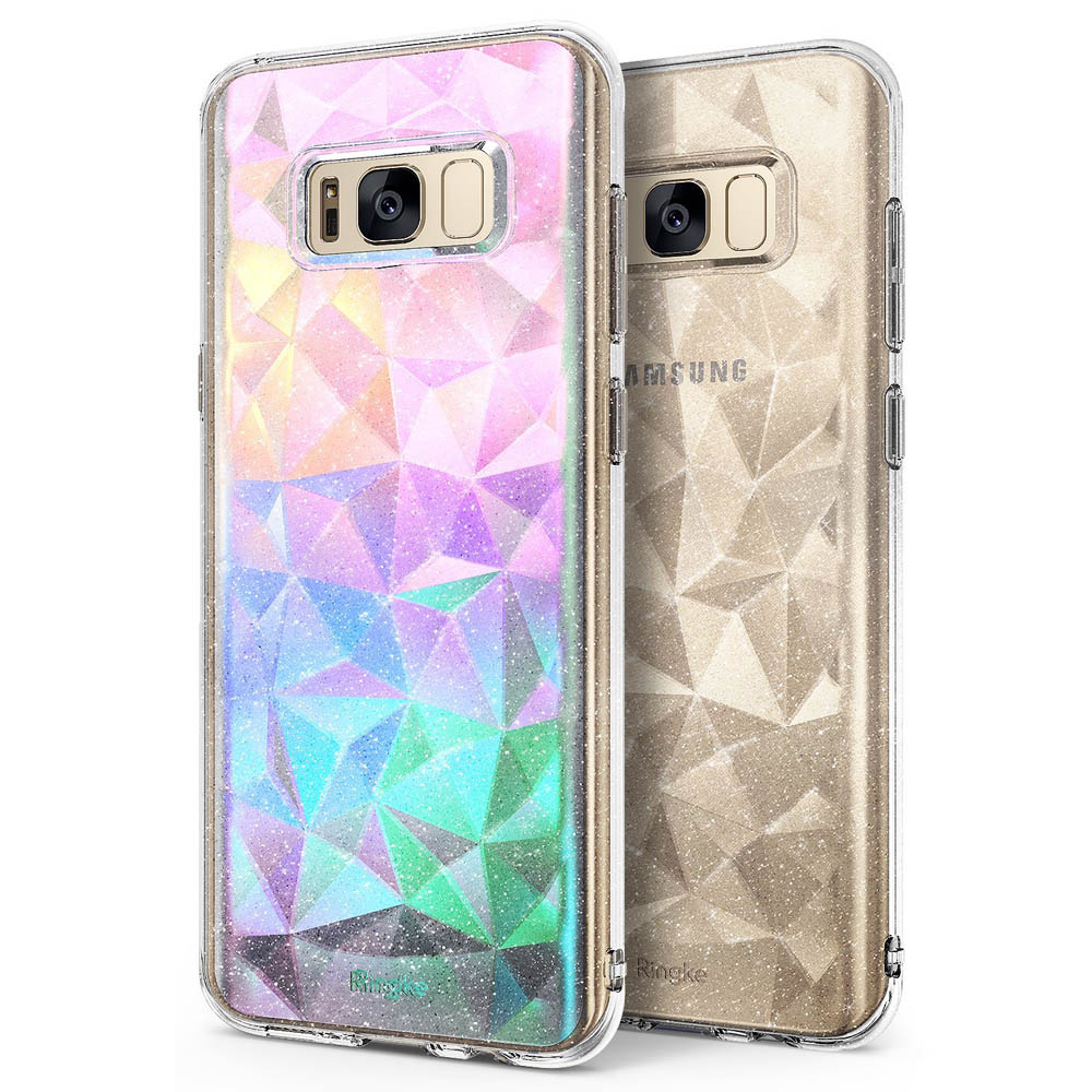 Samsung Galaxy S8 Case, Ringke [AIR PRISM GLITTER] TPU Flexible Sparkle Slim 3D Design Cover - Glitter Clear