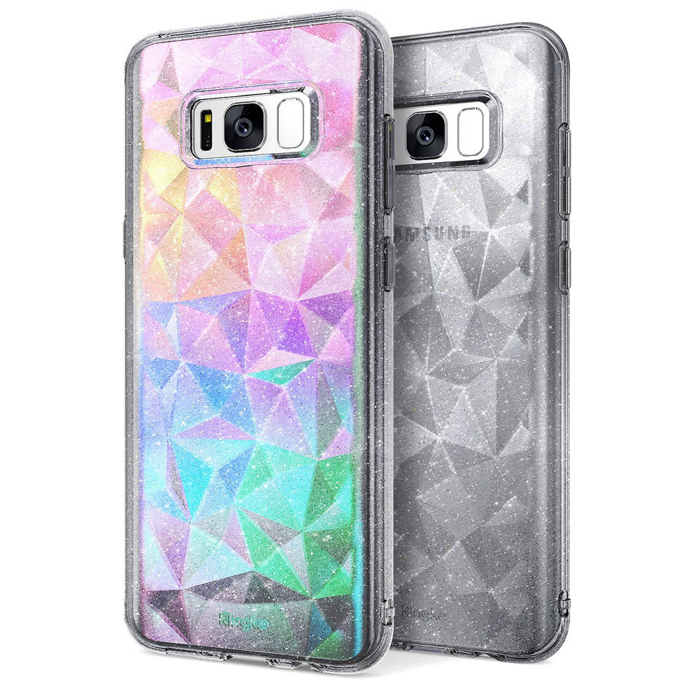Samsung Galaxy S8 Case, Ringke [AIR PRISM GLITTER] TPU Flexible Sparkle Slim 3D Design Cover - Glitter Gray