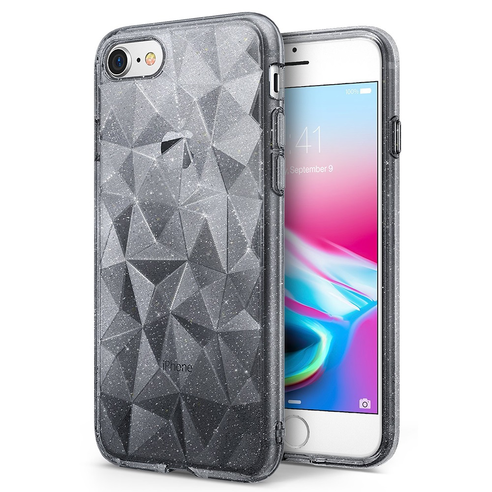 Apple iPhone 8 / 7 / 6S / 6 Case, Ringke [AIR PRISM GLITTER] TPU Flexible Sparkle Slim 3D Design Cover - Gray