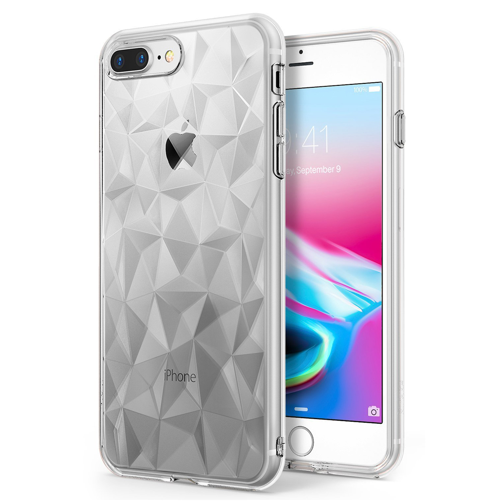 [Ringke] Apple iPhone 8 Plus / 7 Plus Case, [AIR PRISM] 3D Geometric Design TPU Fashion Textured Protective Cover [Clear]