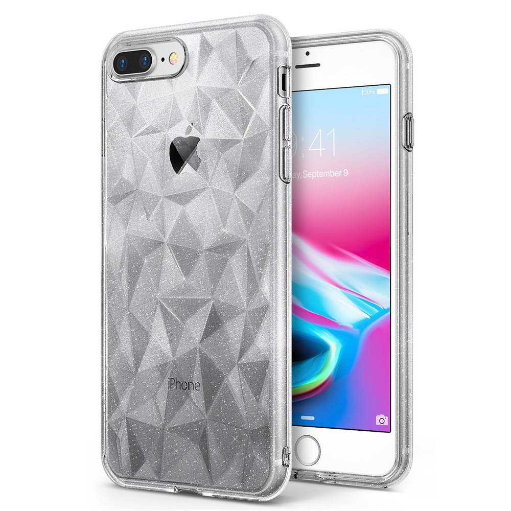 Apple iPhone 8 Plus / 7 Plus / 6S Plus / 6 Plus Case, Ringke [AIR PRISM GLITTER] TPU Flexible Sparkle Slim 3D Design Cover - Clear