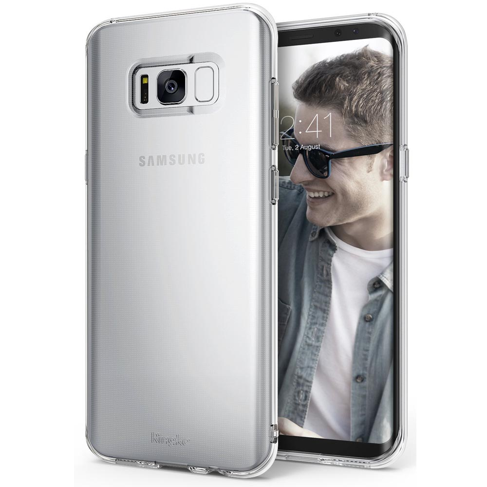 Samsung Galaxy S8 TPU Case, Ringke [Air Series] Extreme Featherweight Flexible TPU Sturdy & Vital Protective Skin Cover for Samsung Galaxy S8 [Clear]