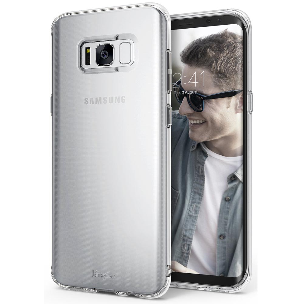 Galaxy S8 Plus Case, Ringke [Air Series] Extreme Featherweight Flexible TPU Sturdy & Vital Protective Skin Cover for Samsung Galaxy S8 Plus [Clear]