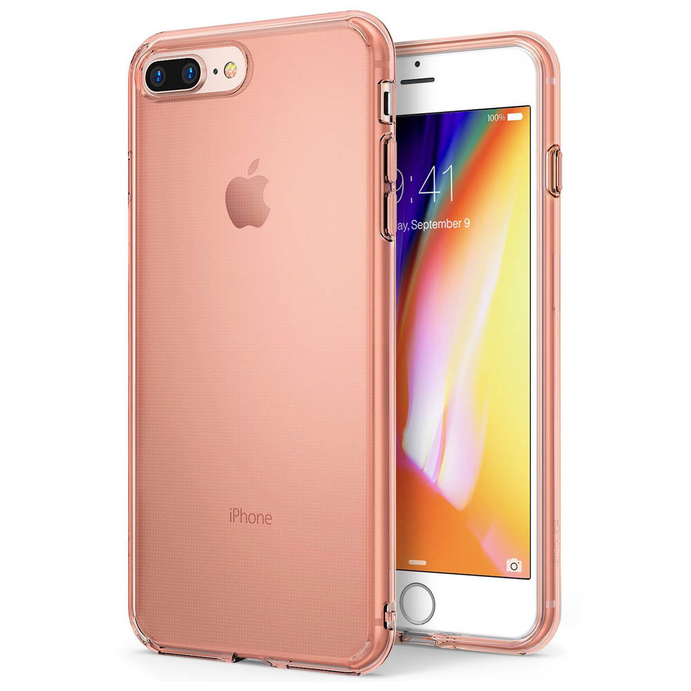 [Ringke] Apple iPhone 8 Plus / 7 Plus Case, [AIR] Flexible Transparent Lightweight & Soft Surface Protection Cover [Rose Gold]