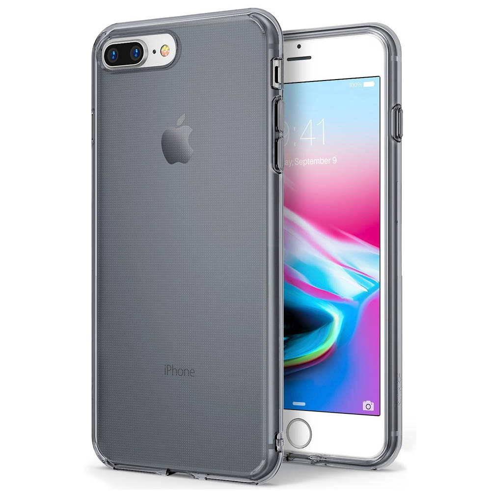 [Ringke] Apple iPhone 8 Plus / 7 Plus Case, [AIR] Flexible Transparent Lightweight & Soft Surface Protection Cover [Smoke Black]