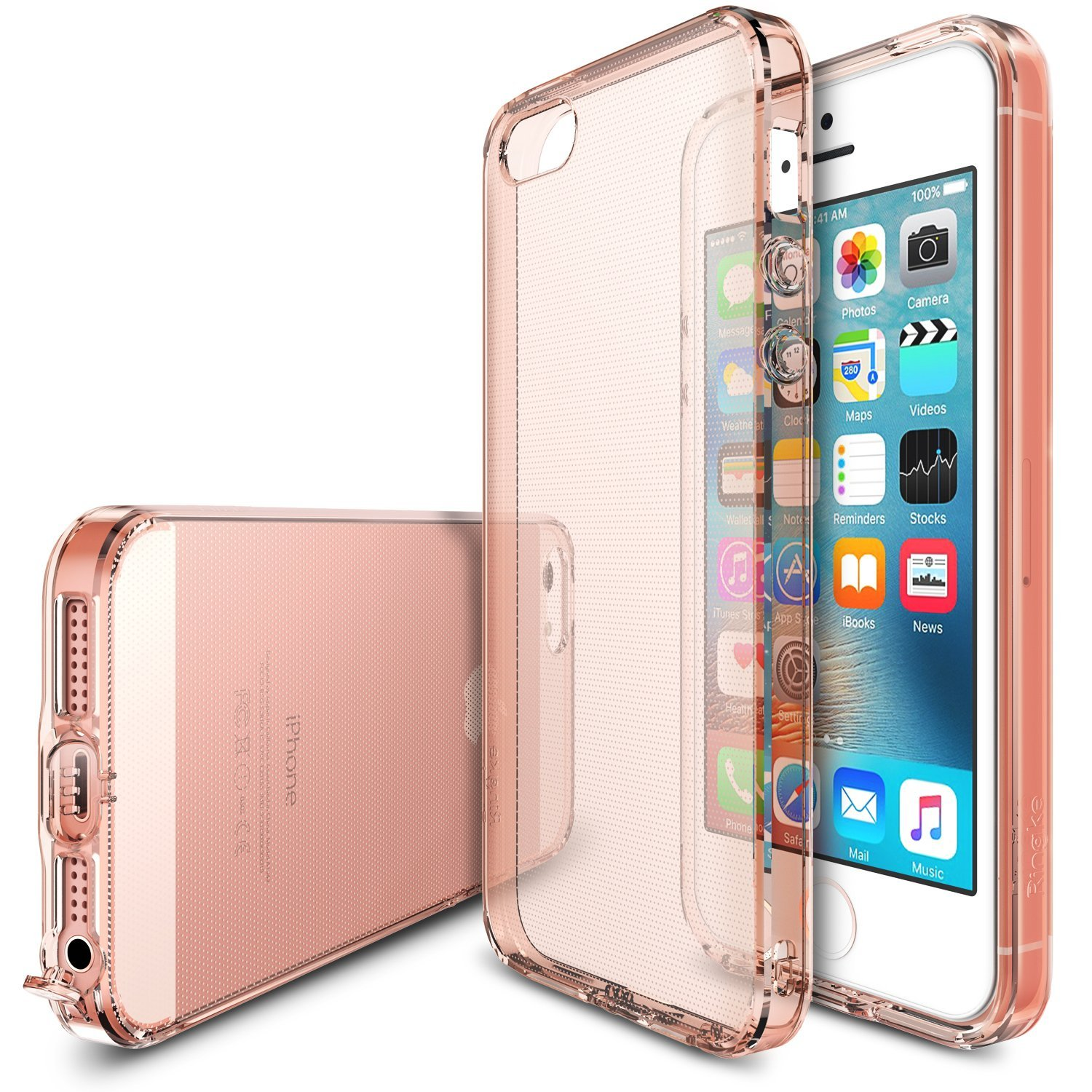Apple iPhone SE / 5 / 5S Case, Ringke [Rose Gold Crystal] AIR Series Extreme Lightweight Ultra-Thin Flexible TPU Case