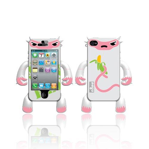 Made for Apple iPhone 4, iPhone 4S Robotector AT&T/ Verizon Silicone Case - White Monkey Mildred - XXIP4 by Nugo labs