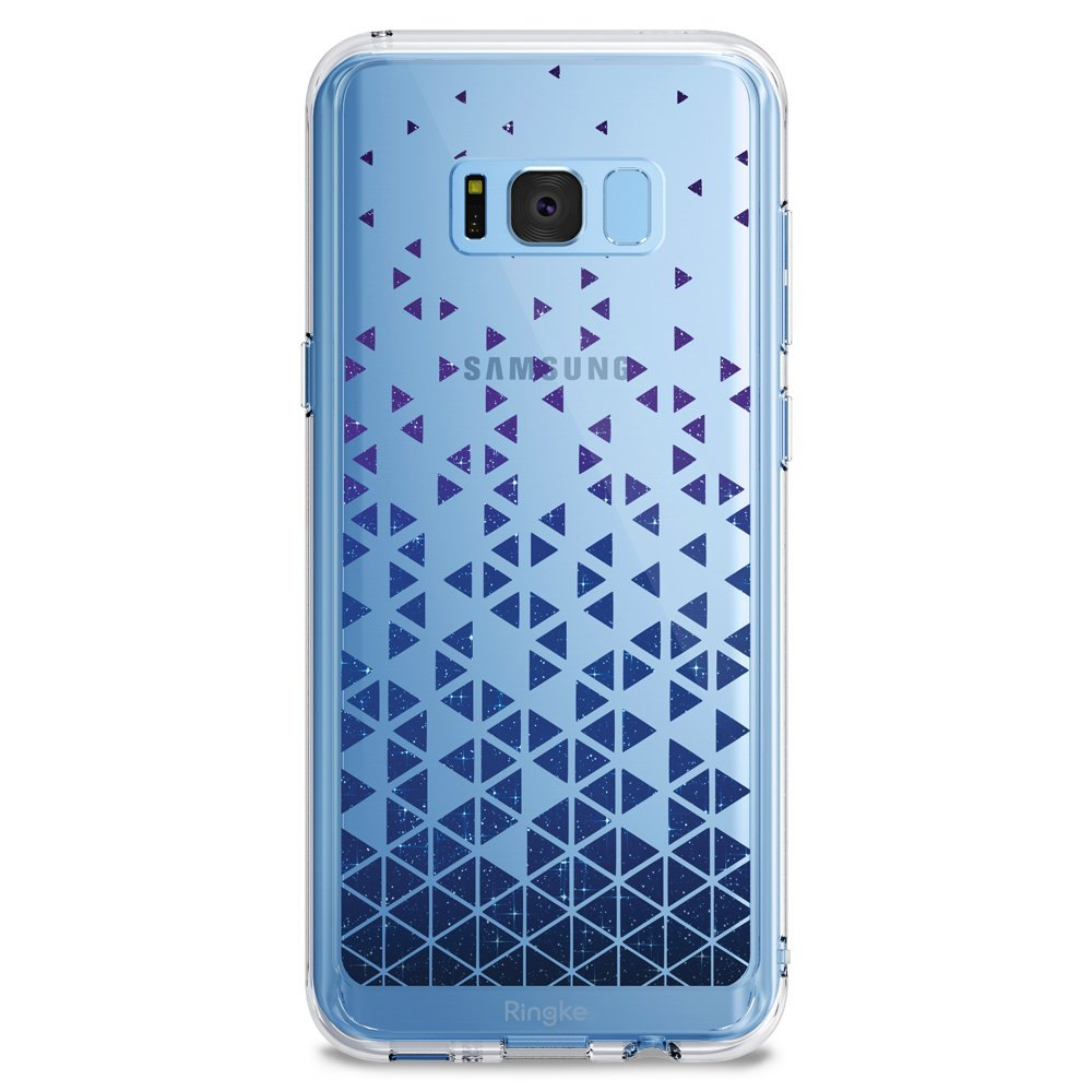 Samsung Galaxy S8 Case, Ringke [DESIGN FUSION] Cute & Pretty Transparent PC Back Protective Cover w/ Shock Absorption TPU Bumper - Stargaze Waterfall
