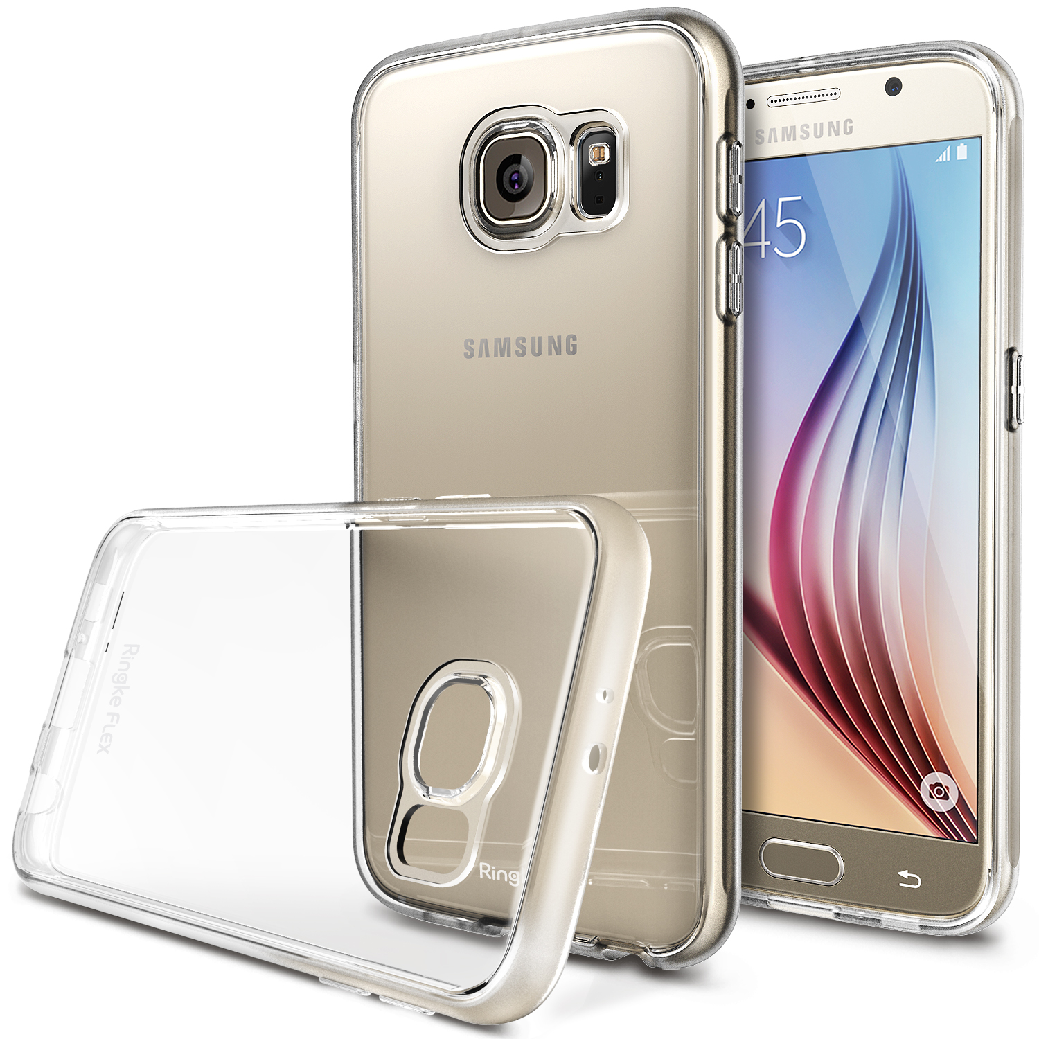 Samsung Galaxy S6 Case, Ringke [Clear] FLEX Series Featuring Flexible Crystal Silicone TPU w/ Free Screen Protector