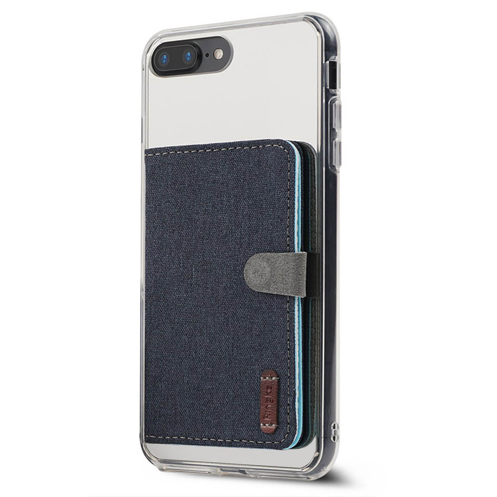 Ringke Flip Card Holder, Premium Slim Fashion Multi-Card Slot 3M Adhesive Flip Card Wallet - Navy