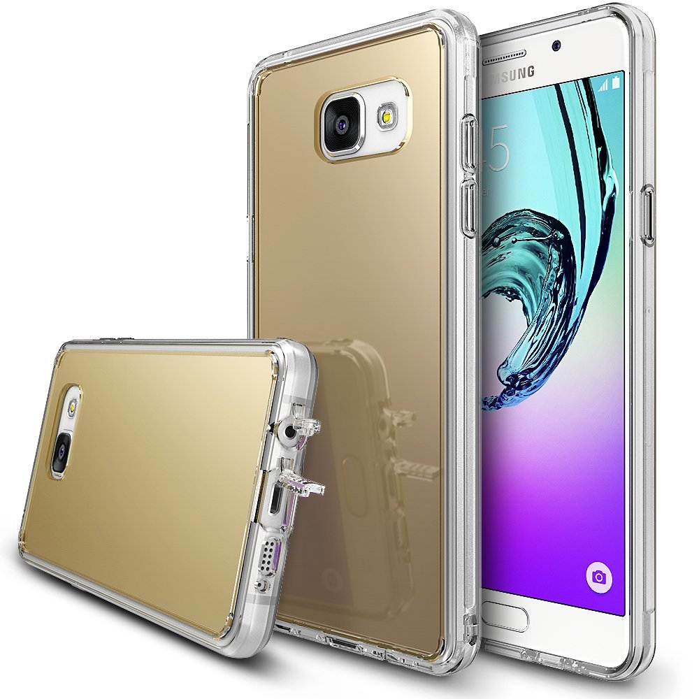Samsung Galaxy A3 2016 Case, RINGKE [FUSION MIRROR] Royal Gold