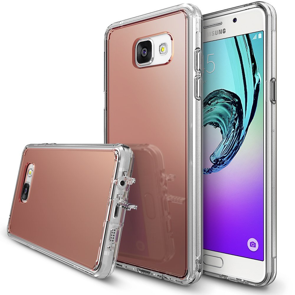 Samsung Galaxy A5 2016 Case, RINGKE [FUSION MIRROR] Rose Gold