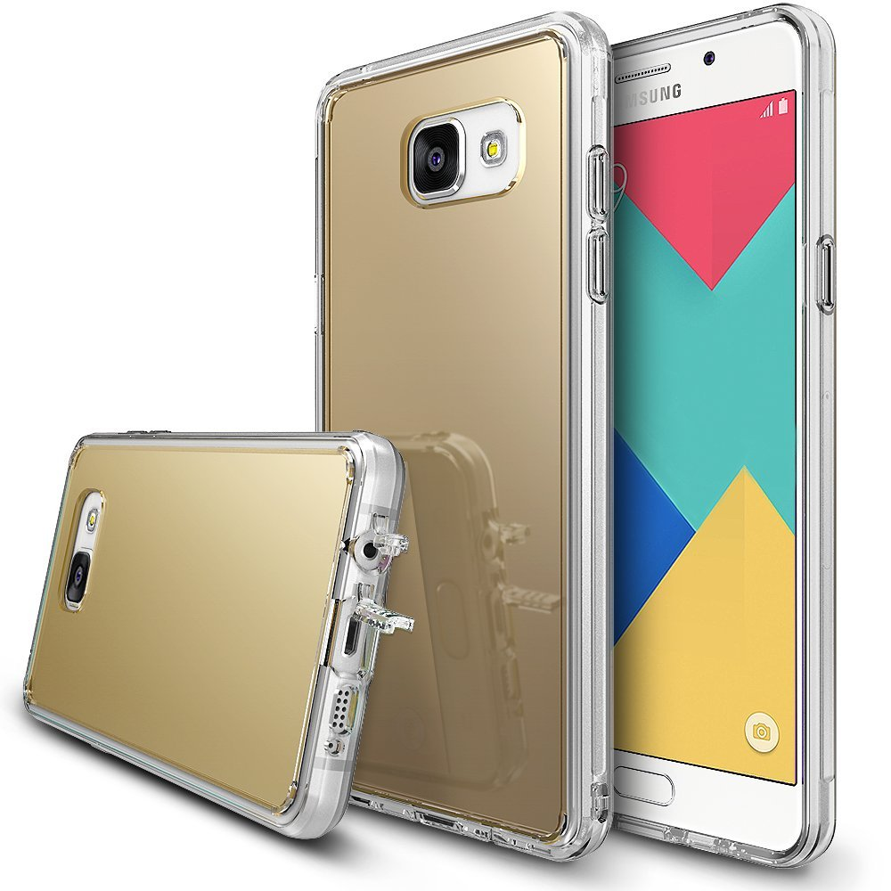 Samsung Galaxy A9 2016 Case, RINGKE [FUSION MIRROR] Royal Gold