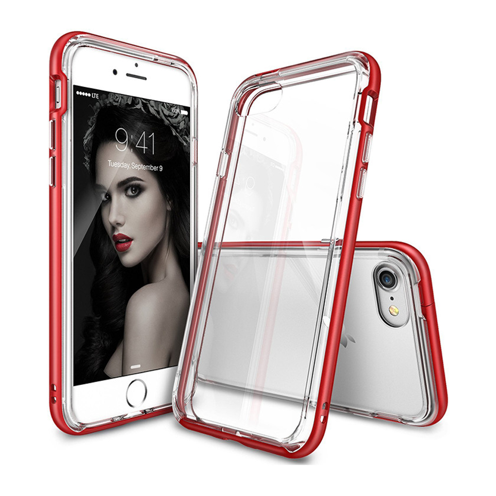 [Ringke] Apple iPhone 8 / 7 Case, [FRAME] Vibrant Shockproof Stylish Contour Bumper Protection Border Cover [Blazed Red]