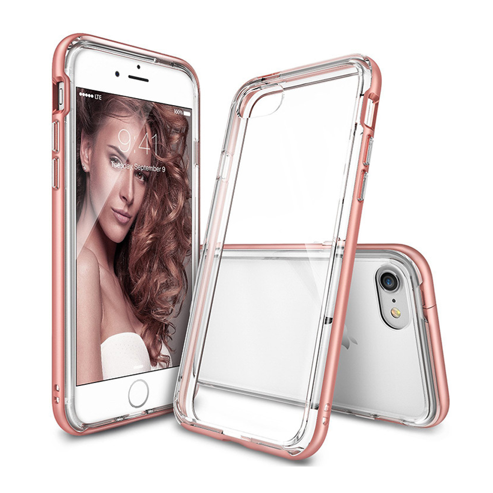 [Ringke] Apple iPhone 8 / 7 Case, [FRAME] Vibrant Shockproof Stylish Contour Bumper Protection Border Cover [Rose Gold]