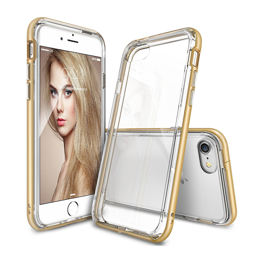 [Ringke] Apple iPhone 8 / 7 Case, [FRAME] Vibrant Shockproof Stylish Contour Bumper Protection Border Cover [Royal Gold]