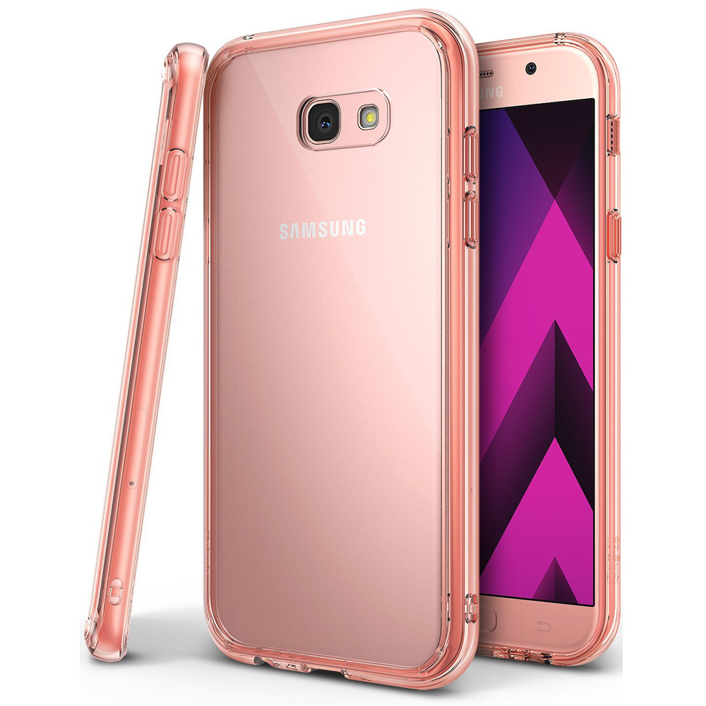 Samsung Galaxy A3 2017 Case, Ringke [FUSION] Crystal Clear PC Back TPU Bumper Drop Protection Cover - Rose Gold