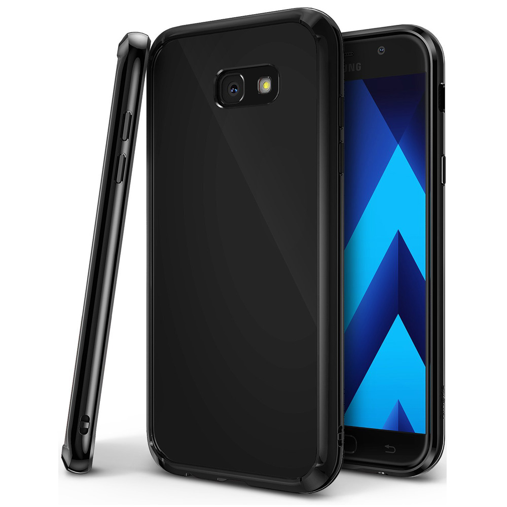 Samsung Galaxy A3 2017 Case, Ringke [FUSION] Shock Absorption TPU Bumper Clear Case - Shadow Black