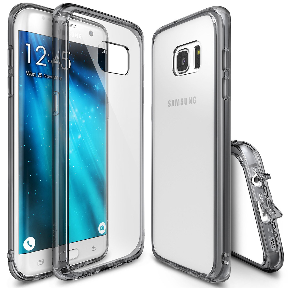 Samsung Galaxy A5 2017 Case, Ringke [FUSION] Shock Absorption TPU Bumper Clear Case - Smoke Black